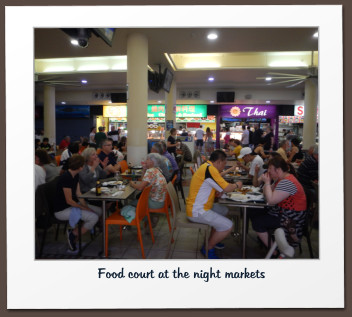 Food court at the night markets